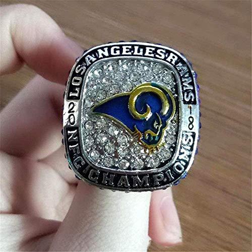 WANZIJING 2018 Los Angeles Rams Super Bowl LIII NFC Championship Ring Replica,Boxless