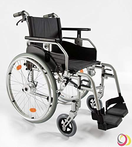 bescomedical Rollstuhl Primus ML-XL 2.0 mit Komfortpaket bis 190kg belastbar, Faltbar, Leichtgewicht, Trommelbremse mit Steckachsensystem, Sitzbreite 56 cm