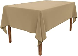 JESELRY Thicken Rectangle Tablecloth Stain Resistant Restaurant Washable Polyester Table Cloth Wrinkle Resistant Rectangular Table Cover Spillproof Tablecloth for Dining Room(Champagne, 60X102 Inch)
