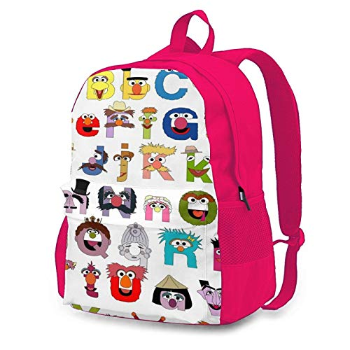 Alphabet Sesame Street Boys Girls School Computer Backpacks Book Bag Travel Hiking Camping Daypack