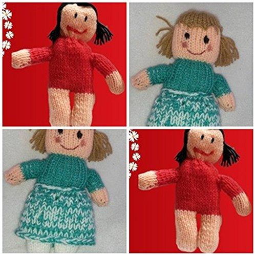 Strickanleitung Olga und Karla im Doppelpack- 2 Puppen ohne Nadelspiel stricken: Schritt für Schritt Anleitung