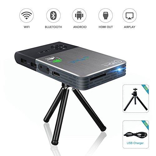 OTHA Mini Projecteur, Pico Vidéoprojecteur Portable, DLP Android WiFi...