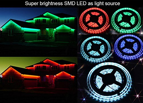 Tira de luz LED SMD de 44 teclas a distancia de 12 V de 5 m RGB 5050 no resistente al agua