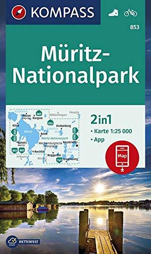 KOMPASS Wanderkarte Müritz-Nationalpark: 2in1 Wanderkarte 1:25000 inklusive Karte zur offline Verwendung in der KOMPASS-App. Fahrradfahren. (KOMPASS-Wanderkarten, Band 853)