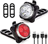 Bike Light Set   See & BE SEEN   Super-Bright!   3X Bigger & Rechargeable Batteries   Water & Dirt Proof   Uncompromising Safety with 4 Extremely Useful Lighting Modes   Easy-to-Use Mounting System