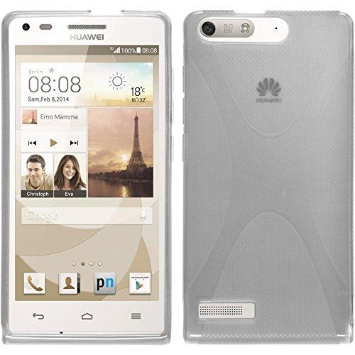 PhoneNatic Custodia Compatibile con Huawei Ascend P7 Mini Cover Trasparente X-Style Ascend P7 Mini...