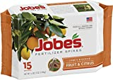 Jobes 01612 Fertilizer Spikes for Fruit and Citrus Trees, 9-12-12, 15 Pack