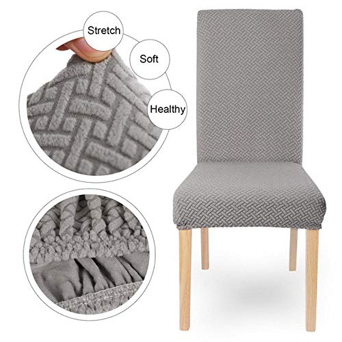 1/2/4/6 Pc gebreide stof elastische stoel Cover Spandex effen kleur kussenovertrekken voor eetkamer keuken bruiloft Hotel banket, A3-gebreide stof, CHINA