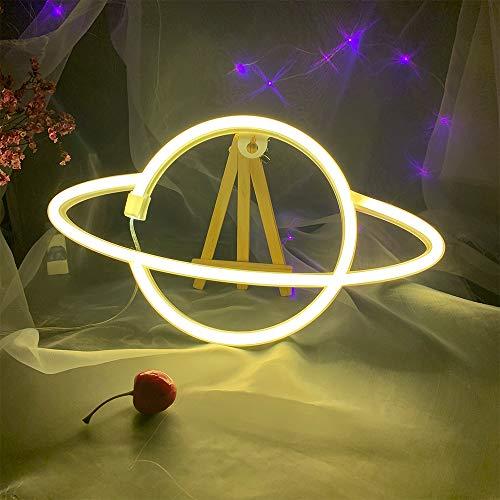 ENUOLI las luces de neón de neón planeta signos de luz Luces de neón para el dormitorio 3 * AA de la batería/USB con alimentación de la lámpara de neón señales de calle de neón de la batería para e
