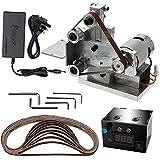 KKmoon Belt Sander Grinder UK Plug Electric Belt Sander with Speed Control Power
