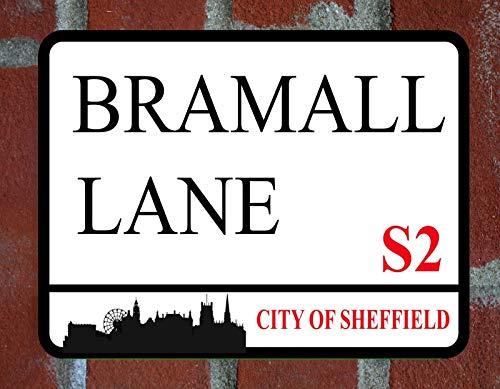 LBS4ALL SHEFFIELD UNITED BRAMALL LANE Metal Sign FOOTBALL STREET Man cave Wall Plaque