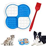 Tazón de Alimentación Lenta para Mascotas, Comedero lento para mascotas, almohadilla para lamer perros, cuenco para perros, divertida almohadilla interactiva para alimentador lento para mascotas(azul)