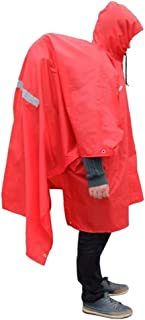 Bluefield Waterproof Multi-Function Backpack Cover One-Piece Poncho Raincoat Mat, Red