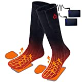 2020 Upgraded Electric Heated Socks,2 Pieces Heating Element 3400mAh Battery Rechargeable Heat Socks for Men Women,3 Heating Temperature Settings for Cold Winter,Hunting Skiing Foot Warmer
