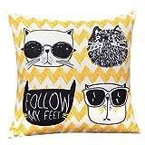 WLLLO Chaobao Kreative Kissen, Baumwolle Und Ma Wohnzimmer Sofa Kissen, Schöne Cartoon Kissen,...