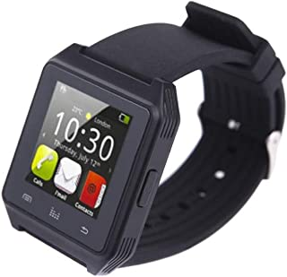 Bluetooth Watch for Android Smartphone Anti-lost Alarm Function Touch Screen Sync SMS Call Music & Camera Remote Control Black