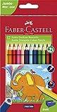 Faber-Castell 116501 - Jumbo Buntstifte dreikant