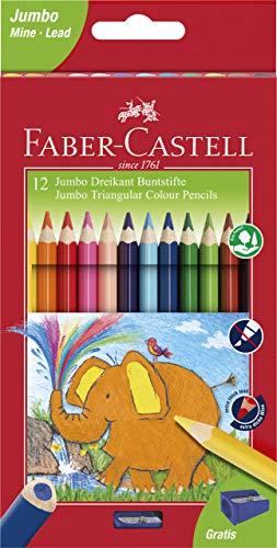 Faber-Castell 116501 driehoekig Jumbo gekleurd potlood (Pak van 12)