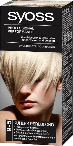 Syoss Professional Performance Coloration 9-5 Kühles Perlblond Stufe 3, 1er Pack (1 Stück)