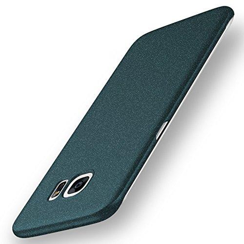 Avalri Cover Galaxy S7 Edge, Minimalista Design Ultra Sottile Case Rigida in PC Antiurto Anti-Graffio Custodia per Samsung Galaxy S7 Edge (Ghiaia Verde)