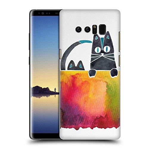 Head Case Designs Oficial Cat Coquillette Gatos Animales 2 Carcasa rígida Compatible con Samsung Galaxy Note8 / Note 8
