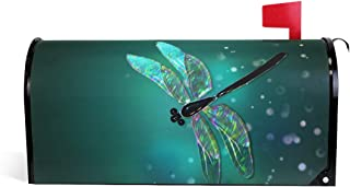 MOFEIYUE Fairy Animal Dragonfly Magnetic Mailbox Cover for Home Garden Yard Deco Makeover Mail Wrap