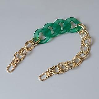 SKREOJF Bracelet à la chaîne en résine acrylique courte pour sacs à main pour femmes Chaînes de sac à main en or pour sacs...