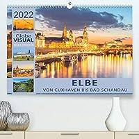 ELBE - Von Cuxhaven bis Bad Schandau (Premium, hochwertiger DIN A2 Wandkalender 2022, Kunstdruck in Hochglanz): Das blaue Band Deutschlands (Monatskalender, 14 Seiten )