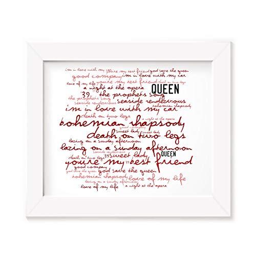 Queen Poster Print - A Night at the Opera - Letra firmada regalo arte cartel