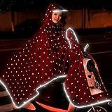 WAYCOM Regenponcho Reflective Raincoat - wasserdichte Motorrad-Roller-Regen-Mantel - Spiegel Slot -