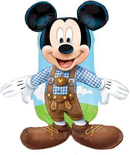 Folienballon Mickey Mouse mit Lederhose, ca. 75 cm