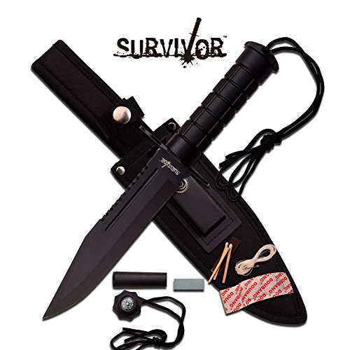 Survival Knife Messer Überlebensmesser Jagdmesser Outdoor Camping HK-786BK
