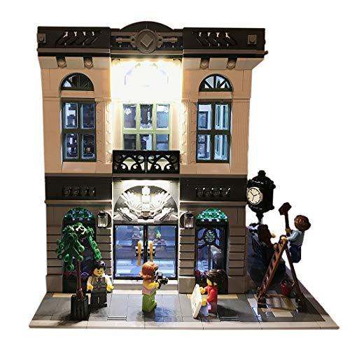 NURICH Licht Set für Lego 10251 Steine Bank, USB Stecker, passen zum Lego 10251