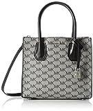 Michael Kors Mercer Signature Medium Messenger Bag, Bolso bandolera para Mujer, Negro (Black), 19x11x22 cm (W x H x L)
