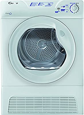 CANDY GCC581NB 8kg 4 Temps Sensor Condenser Dryer with Reverse Action in White