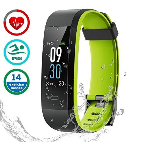LATEC Pulsera de Actividad, Pulsera Inteligente Pantalla Color Reloj con Pulsómetro Impermeable IP68 Monitor de Ritmo Cardíaco Podómetro Deportiva Fitness Tracker para Mujer Hombre Niños…