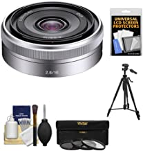 Sony Alpha NEX E-Mount E 16mm f/2.8 Lens + Tripod + 3 UV/FLD/PL Filters Kit for A7, A7R, A7S Mark II, A5100, A6000, A6300 Cameras