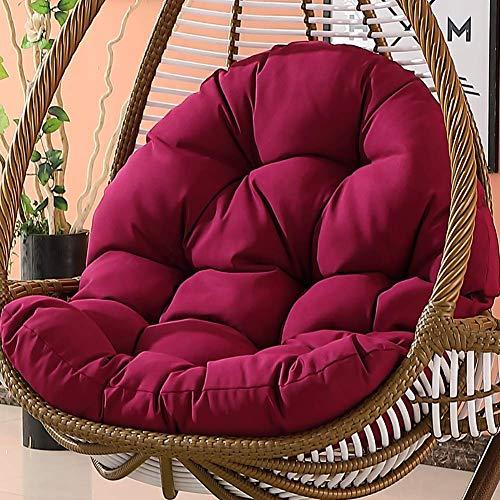 Asiento para silla colgante, almohadillas antideslizantes para silla, columpio, cuna, silla de mimbre, mecedora para adultos, cojín para balcón interior, suave escarlata 86x120x15cm (34x47x6inch)