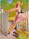 Art Frahm Pinup Girl Playtime 1949 p7475 A2 Canvas - Art Painting Decor Wall...