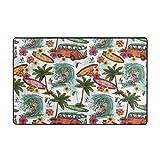 Blived Alfombra de baño,Alfombra de baño Classic Summer Surf Beach Coconut Tree 75cmx45cm