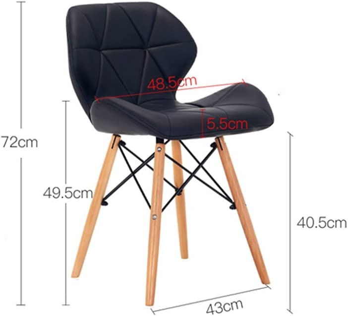 Loisirs simple chaise en cuir chaise d'ordinateur maison dos dinant la chaise (Couleur : B) A