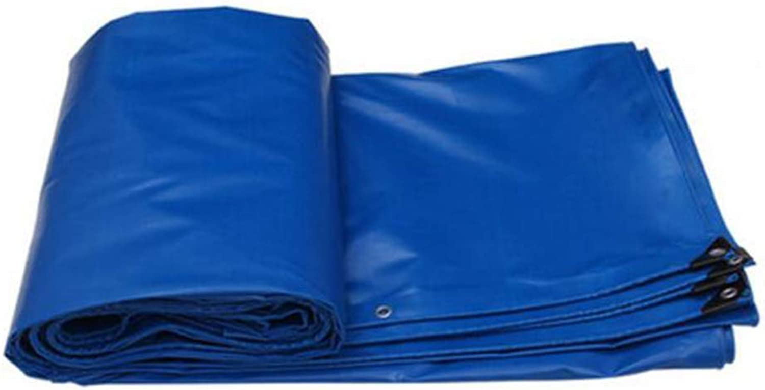 Shade Cloth, Tarpaulin PVC Thicken Rainproof Sunscreen Shade Shed Cloth Canvas Outdoor Lorry (color   bluee, Size   5  4M)