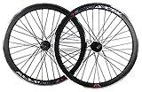 Woo Hoo Bikes Deep V 43 mm Fixie, Fixed Gear, Track Single Speed Bike Räder mit Flip Flop Naben, Schwarz , 28