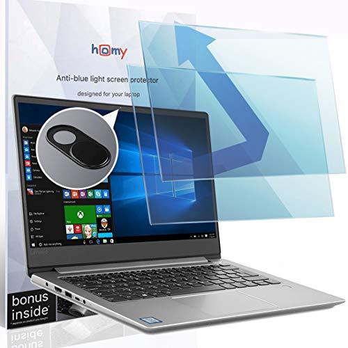 Homy Anti-Blue Light [2-Pack] Protector de pantalla mate para portátil de pantalla ancha de 15,6 pulgadas. Bono: Funda para cámara web. Protección de los ojos contra los rayos...