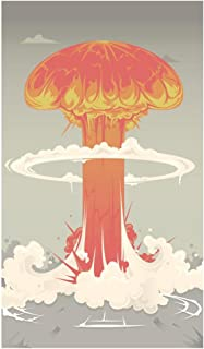 Atomic Bomb Mushroom Cloud Cartoon Cubicle Locker Mini Art Poster 8x12