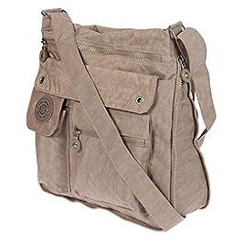 Christian Wippermann® , Sac pour femme à porter à l'épaule Noir marron 33 x 30 x 9 cm