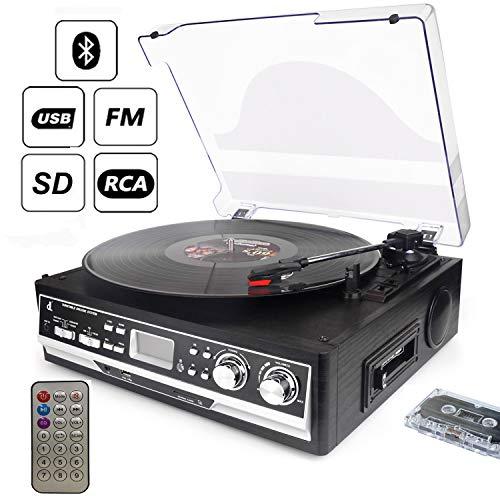 Giradiscos de Tocadiscos dl Record Player, 33/45/78,FM,