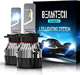 BEAMTECH Bombillas LED H7 para faros delanteros, 10000 lm, luces alta/baja superbrillantes, tamaño mini, 60 W, chips CSP, 6500 K, color blanco