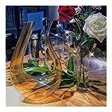 meimeijia Brillante Ámbar Copa de Cristal Amarillo Transparente Copa de Vino cáliz Partido Wine Dinner Set de vajilla Banquete de Suministro Mezcla (Color : Decanter)