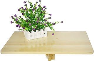 JFFFFWI Table Murale Rabattable, Table de Salle à Manger en Bois pour Cuisine à Domicile, Simple et Pliante 60x40cm (Coule...